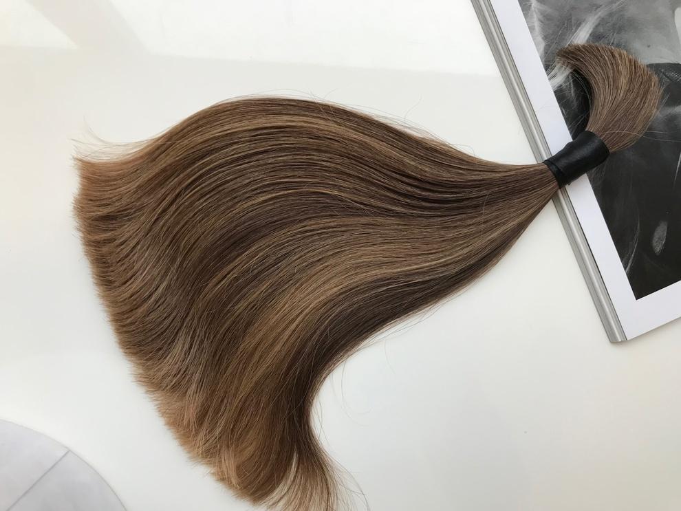 37cm/54gram Włosy słowiańskie dziewicze kucyk A108