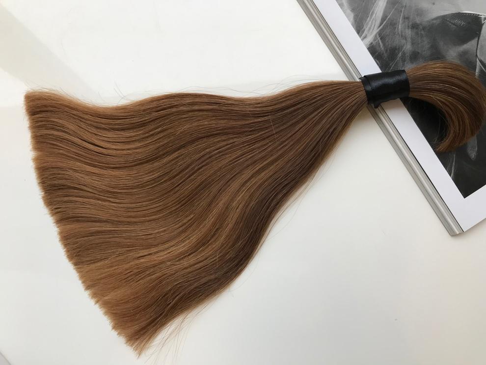 51cm/111gram Włosy słowiańskie dziewicze kucyk A115