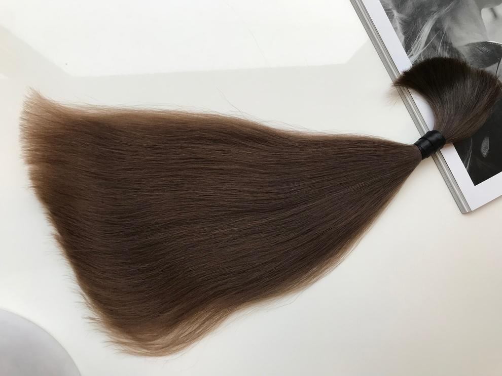 29cm/18gram Włosy słowiańskie dziewicze kucyk A55