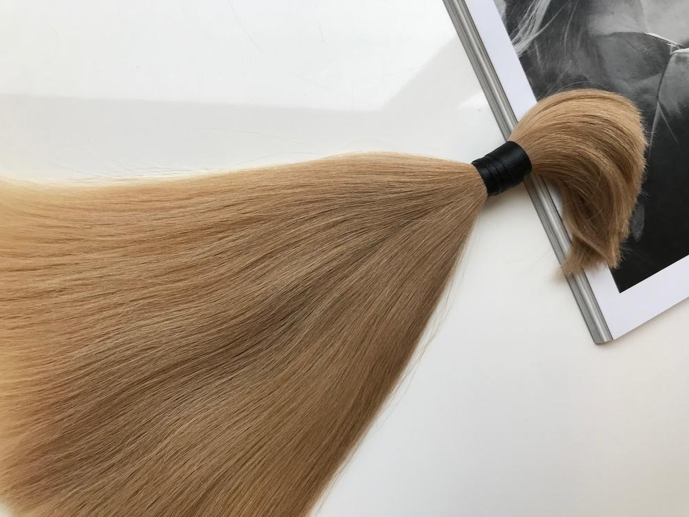 36cm/41gram Włosy słowiańskie dziewicze kucyk A123