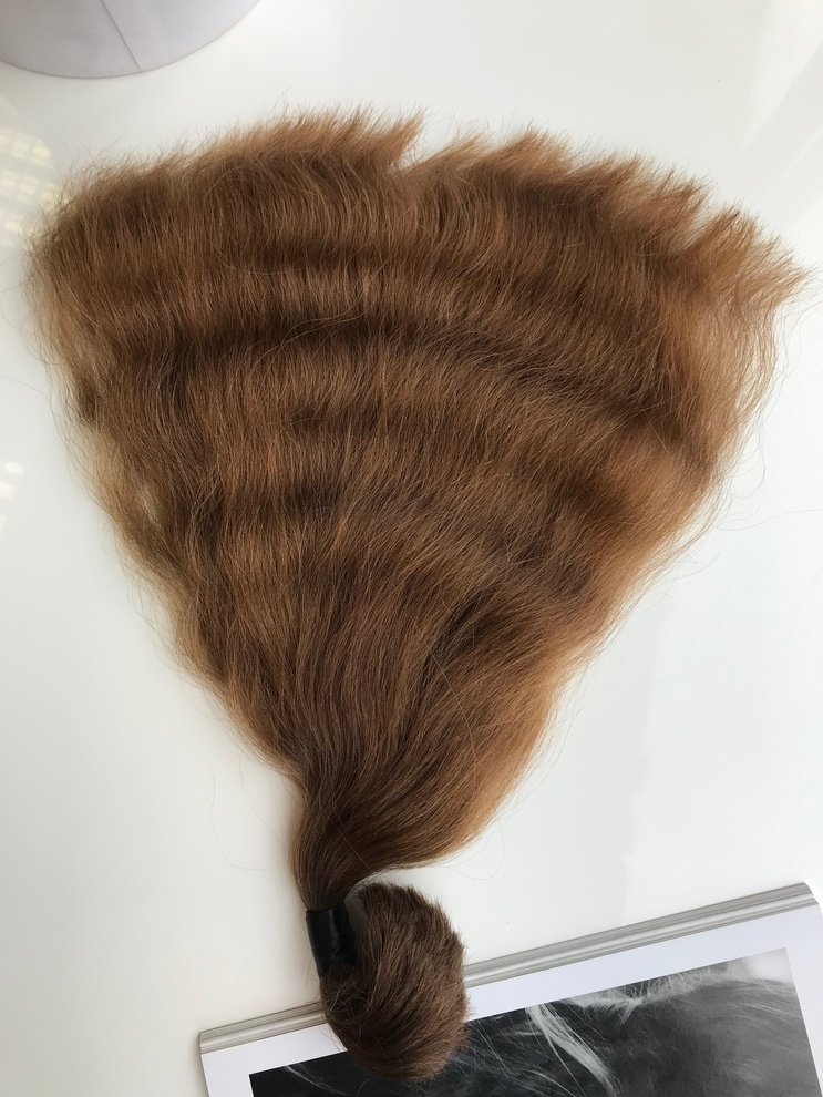 39cm/86gram Włosy słowiańskie dziewicze kucyk A107