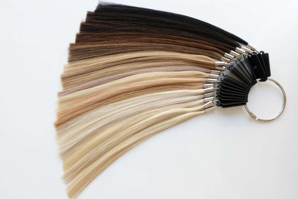 Wzornik kolorów do przedłużania włosów